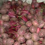 Beets for sale at a market in Honduras. (Photo by Frank Mangan)
