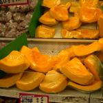 Figure 17. Calabaza cut up and wrapped in cellophane at an ethnic market in Newark New Jersey in 2008 (Photo by Frank Mangan)