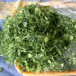 Collards cut into strips for sale at a Brazilians store. (Photo by Frank Mangan)