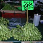 Calabacita for sale at a wholesale market in Mexico City in 2010 (Photo by Frank Mangan)