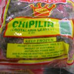 Figure 6. Frozen chipilín for sale at a market in Massachusetts in 2008. (Photo by Frank Mangan)