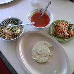 Figure 11. Two types of encurtido served with a pupusa at a restaurant in San Salvador El Salvador in 2004 (Photo by Frank Mangan)