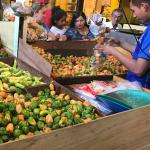 Figure 2. Habanero peppers for sale in a retail market in Merida Mexico in 2017 (Photo by Frank Mangan)