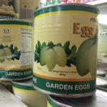 Figure 5. Canned garden egg for sale at a market in Worcester Mass. in 2007. (Photo by Frank Mangan)