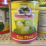 Figure 3. Canned garden egg for sale at a market in Worcester Mass. in 2014. (Photo by Frank Mangan)