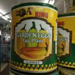 Figure 2. Canned garden egg for sale at a market in Worcester Mass. in 2014. (Photo by Frank Mangan)