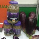 Figure 8. Smoked eggplant on display at a trade show in Santo Domingo, Dominican Republic in 2015. (Photo by Frank Mangan)