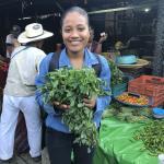 Figure 2 . Samantha from the Univsersidad de la Costa in Pinotepa Oaxaca, Mexico in 2017. (Photo by Frank Mangan)