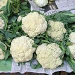 Cauliflower for sale at a market in Sao Paulo. (Photo by Frank Mangan)
