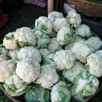 Cauliflower for sale at a market in San Salvador Salvador. (Photo by Frank Mangan)
