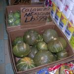 Figure 20. Kabocha squash from Mexico for sale in a bushel box in a market in Washington Heights New York in 2006 Photo by Frank Mangan)
