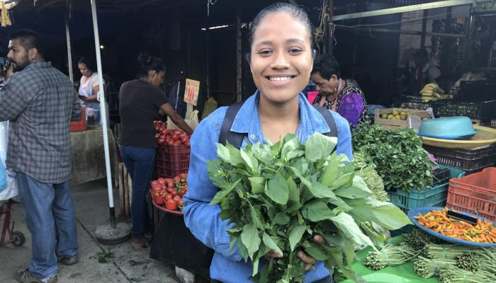 Hierba mora for sale at a market in Pinotepa Oaxaca in 2017. (Photo by Frank Mangan)